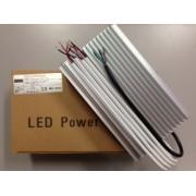 LED tápegység , 12 Volt , 150 Watt , 12,5A , kültéri , vízálló , IP67, Alumínium ház