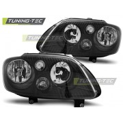 Přední světla, lampy VW Caddy, Touran 03-06 černá H7/H1