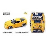2006 Chevrolet Chevy Corvette Z06 #144 Big Time Muscle 1:64 Scale Die Cast Metal 2007 Wave 12 By Jada Toys