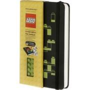 Moleskine Limited Edition Lego Green Brick Pocket Plain Notebook Black Cover by Moleskine