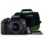 Aparat foto Canon EOS 750D (obiectiv 18-55 IS STM ) + geanta Canon + 8GB SD + laveta