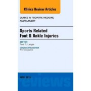 Sports Related Foot & Ankle Injuries, An Issue of Clinics in Podiatric Medicine and Surgery by Paul Langer