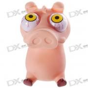 Divertidos globos oculares de Rolling Pop-out Piggy estres relevista de silicona Toy (Fleshcolor)