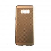 Husa Slim Plastic perforat Samsung S8 Gold