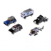 5pcs Juguetes Modelos de Helicópteros Diecast Emergencia de Ambulancia del Coche Camión 1:64 - Azul