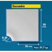 Esquina borde piscina Blanco Granallado 35 cm