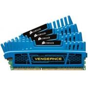 Corsair CMZ16GX3M4A1600C9B Vengeance Memoria per Desktop a Elevate Prestazioni da 16 GB (4x4 GB), DDR3, 1600 MHz, CL9, con Supporto XMP, Blu