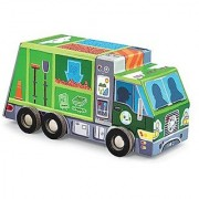 Crocodile Creek Recycling Truck 48 piece Jigsaw Puzzle in Vehicle Shaped Box 8