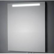 KOH-I-NOOR LED Wandspiegel mit Oberbeleuchtung, B: 1000, H: 1000, T: 33 mm L45785