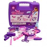 Zerowin Pretend Play Doctor Set Medical Center Doctors Kit With A Sturdy Gift Case, Purple