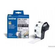 BROTHER DK Tape 29mm Black on White, 400 labels per roll, for P-Touch (DK11201)