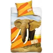 Dekbed Animal Planet olifant: 140x200/70x80 cm