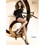 Diamond-patterned fishnet tights Brigitte 03