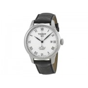 Tissot T-Classic Le Locle Silver Dial Black Leather Men's Watch T41142333 Silver Guilloche