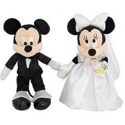 Disney Mickey & Minnie Mouse Plush Wedding Set 9 Bride & Groom