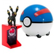 TOMY Pokemon Catch N Return Pokeball Umbreon Action Figure and Great Ball