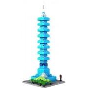 Loz Micro Blocks, Taipei 101 Model, Small Building Block Set, Nanoblock Compatible (390 pcs)