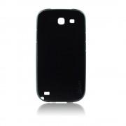 Калъф силиконов с кожен гръб Fashion Style за Samsung Galaxy Note 2 черен