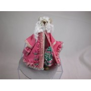 World of Miniature Bears 3 Inch Cashmere Father Christmas Bear #953 Collectible Miniature Bear Made by Hand
