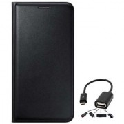Lava A89 Flip cover With Micro Otg Cable-Color May Vary