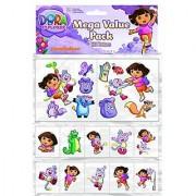 Amscan Dora Temporary Tattoo Favor Value Pack 12-1/2 x 8-3/8 Multicolored