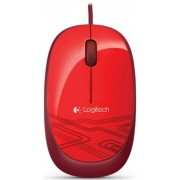 Mouse Logitech Wired Optic M105 (Rosu)