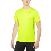 Nike Legacy SS Shirt Men volt/black/cool grey L 2016 Laufshirts