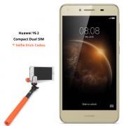 Smartphone Dual SIM Huawei Y6 II Compact LTE + selfie stick Xgem Me-shot