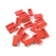 LEGO Bricks - Plancha lisa (20 unidades, 1 x 2 pivotes), color rojo