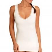 Achel Tee-shirt Chemise sans manches femme - col V - Laine/Coton/Viscose
