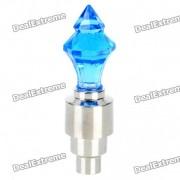 Sensor de vibraciones multicolores 1-LED Tire decorativo valvula de luz Cap - Azul (3 x AG10)