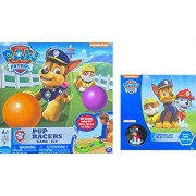 Paw Patrol Games Gift Set Featuring Paw Patrol Pup Racers Game Ball Chasing Racing Fun, And Paw Patrol Sticker Art Play Studio Over 100 Pieces