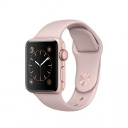 APPLE APPLE WATCH SERIES 2 38MM ROSE GOLD ALUMINIUM CASE WITH PINK SAND SPORT BAND