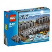 ЛЕГО СИТИ - ПОДВИЖНИ РЕЛСИ, LEGO City Flexible Tracks, 7499