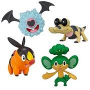 Pokemon Black & White Value Gift Pack 4 Figure Set - Tepig Woobat Pansage Sandile
