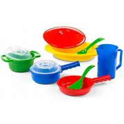 Toy Pots and Pans Set - Perfect Gift for Girls & Boys Ages 2/3/4 Years Old, Pretend Play Kids Cookin