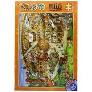 D-Giocattoli Cartoon Collection Colosseo Puzzle (1000 Pezzi)
