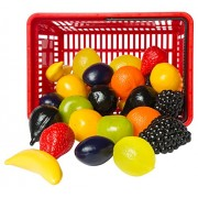 L.A.P. Learn And Play 53415 - Shopping Basket Fruits, 27 Pezzi