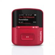 Philips SA4RGA04RN Lecteur mp3 GoGear Raga 4Go jusqu'à 15h d'autonomie, charge ultrarapide, écran multicolore, Rouge
