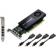 Placa Video PNY Quadro K1200 pentru DisplayPort, 4GB, GDDR5, 128 bit