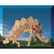 Puzzled Colorful Wood Craft Construction Stegosaurus 3D Jigsaw Puzzle