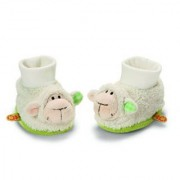 Neat-Oh My First Nici Baby Booties Lamb with Rattle Plush