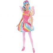 Boneca Barbie Reinos Mágicos Fada do Reino dos Arco-Íris - Mattel