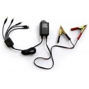 Flero 5 in 1 DC Charger Worldwide Adaptor(Black)
