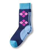 Funky SIXTEEN: Nachtblau mit violetten und rosa Karos