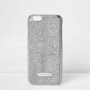 River Island Womens Silver glitter skinny dip phone case