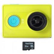 Romaric Xiaoyi 1080p 16MP CMOS sport caméra caméscope w / WiFi / Bluetooth 4.0 - vert (32GB TF)
