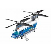 Wange Building Block Super Police Heavy-duty Helicopter 52015 3doll 427pcs Compatible with Lego