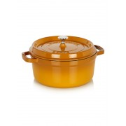 Staub Ronde Cocotte 24 cm - mosterd