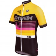 Santini Tour Down Under Adelaide Short Sleeve Jersey 2016 - Yellow - L